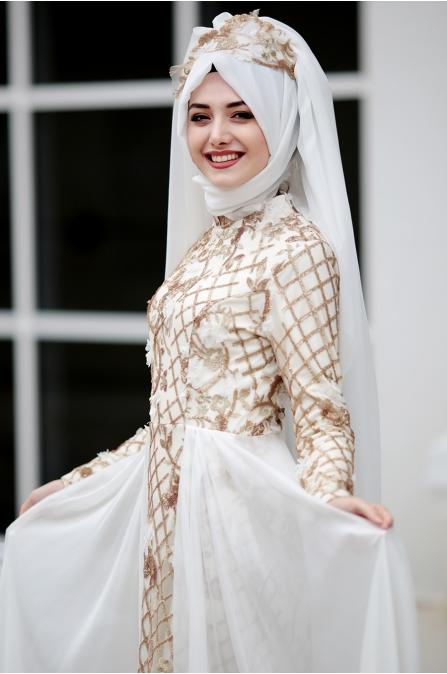 Beyza Abiye - Ekru - Gamze Özkul