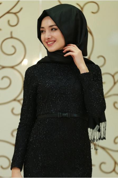 Fulya Abiye - Siyah - Gamze Özkul