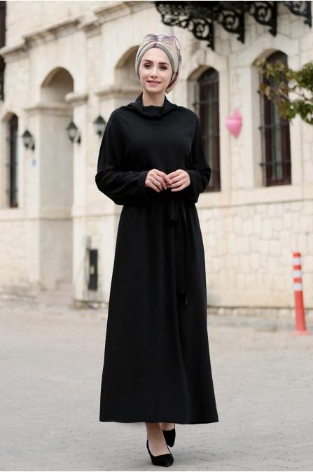 Bella Elbise -Siyah - Gamze Özkul