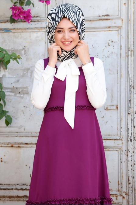Kot Elbise - Fuşya - Gamze Özkul
