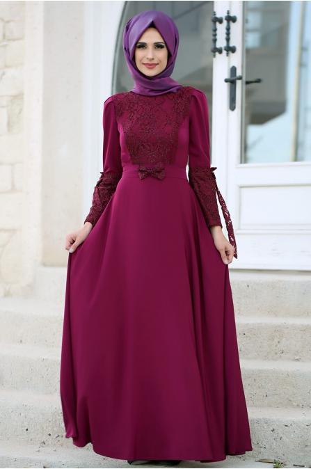 Asil Elbise Fuşya - Gizem Kış