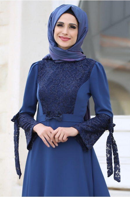 Asil Elbise Mavi - Gizem Kış
