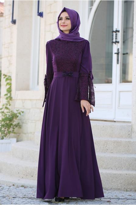 Asil Elbise Mor - Gizem Kış