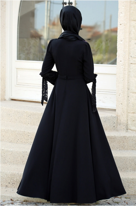 Asil Elbise Siyah - Gizem Kış