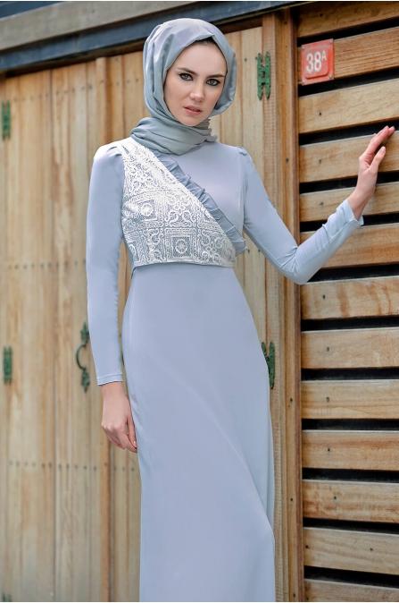 Gizem Kış - Miray Elbise - Bebe Mavi