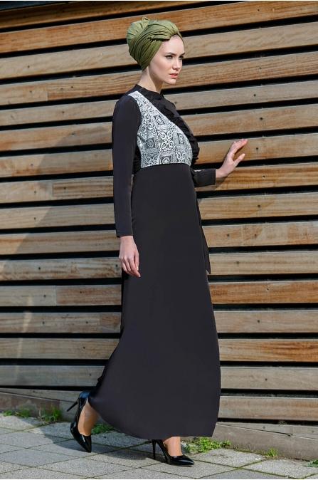 Gizem Kış - Miray Elbise - Siyah