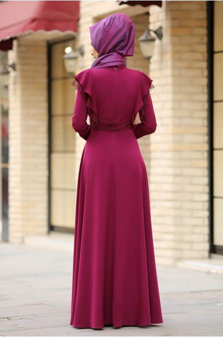 Rüya Elbise Fuşya - Gizem Kış