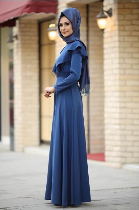 Rüya Elbise Mavi - Gizem Kış