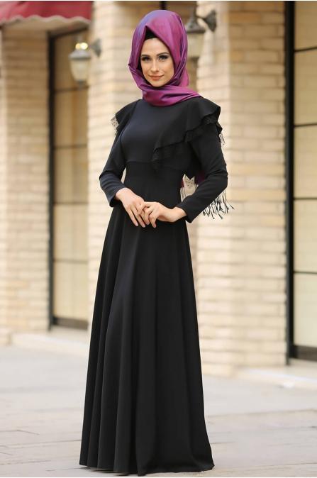Rüya Elbise Siyah - Gizem Kış