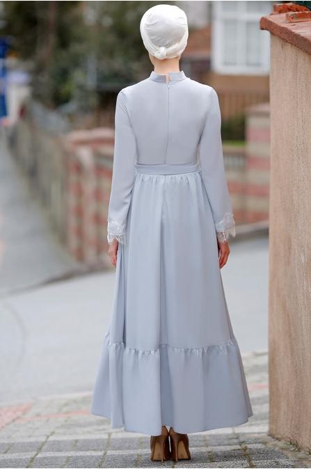 Gizem Kış - Eslem Elbise - Bebe Mavisi