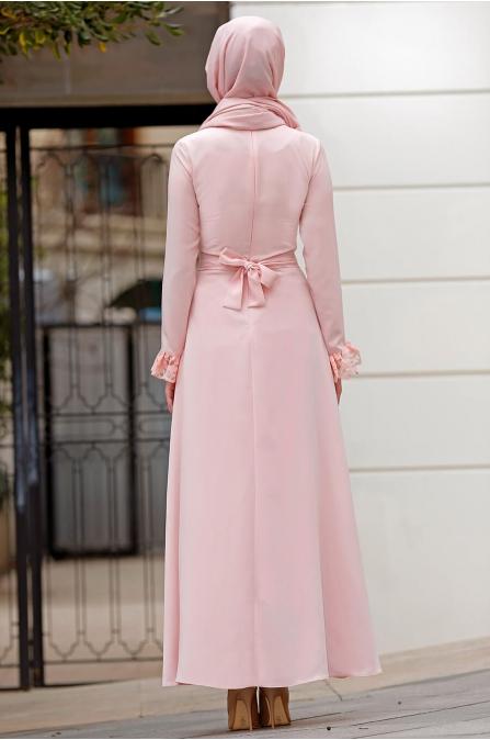 Gizem Kış - Erva Elbise - Pudra