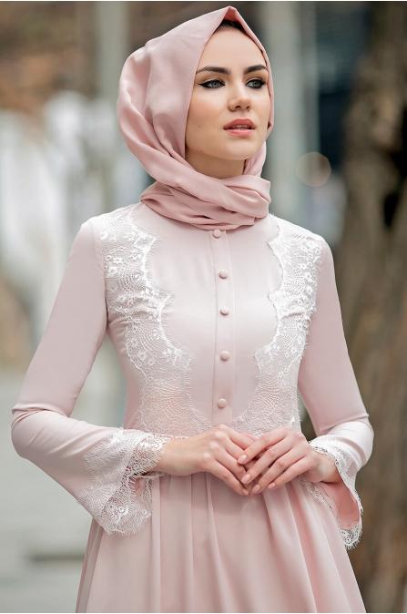 Gizem Kış - Eslem Elbise - Pudra