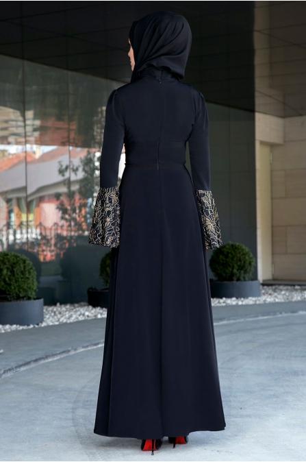 Gizem Kış - Aden Elbise - Siyah