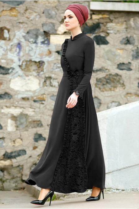 Gizem Kış - Erva Elbise - Siyah