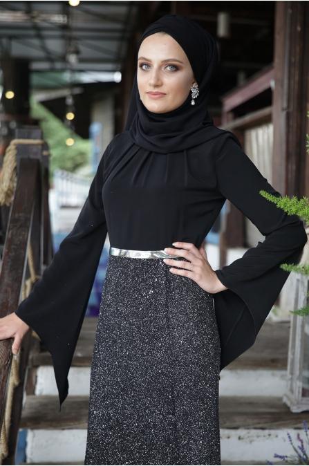 Büşra Abiye - Siyah - Hazem