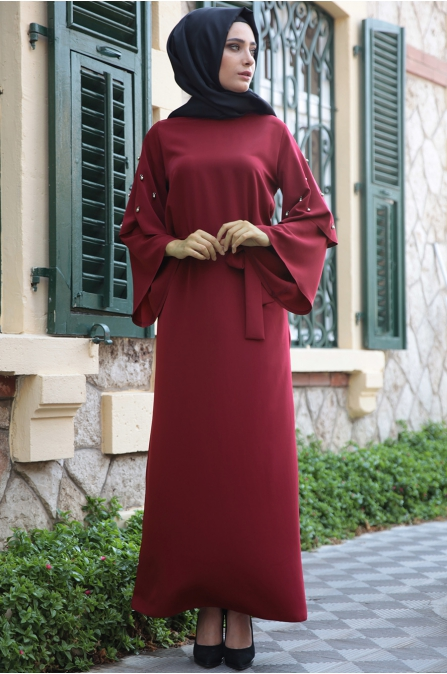 Hazem - Sevilay Elbise - Bordo