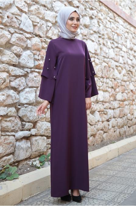 Hazem - Sevilay Elbise - Mürdüm