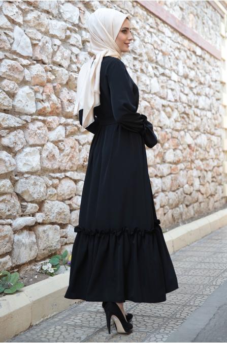 Hazem - Tomris Elbise - Siyah