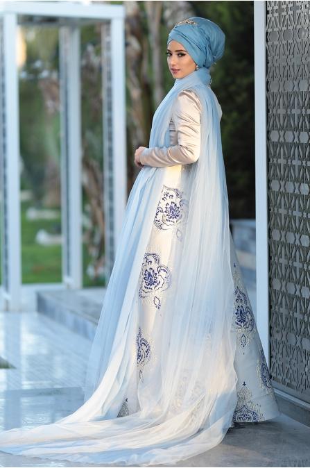 Lefzen - Thalia Abiye- Gri Mavi