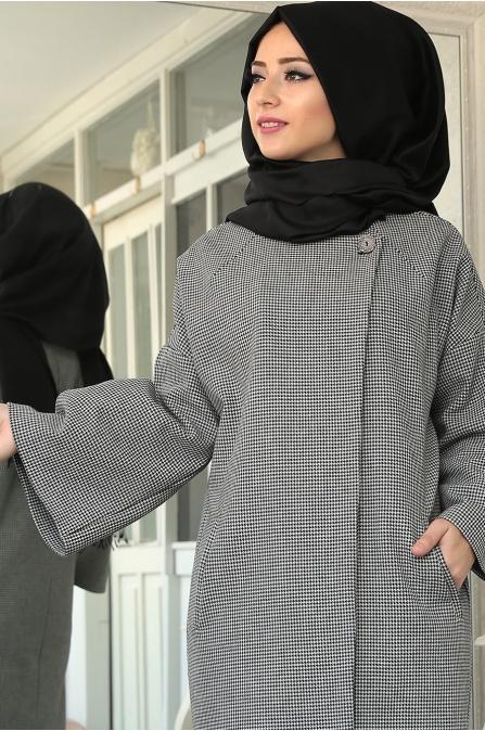 Lefzen - Petek Ceket - Siyah Beyaz