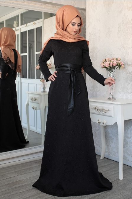 Lefzen - Demet Elbise - Siyah