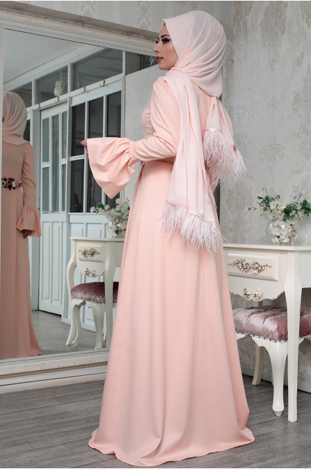 Lefzen - Efruz Elbise - Pudra