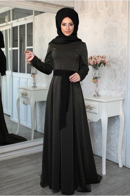 Lefzen - Safir Elbise - Dore