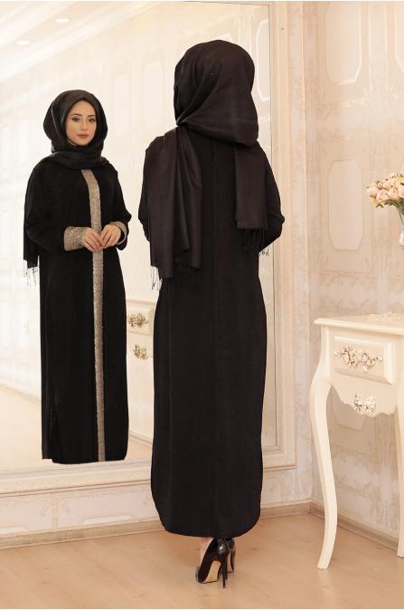 Elisa Uzun Tunik - Siyah - Lefzen