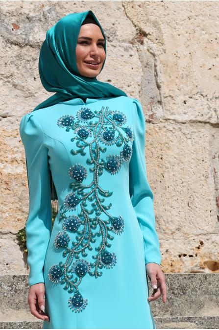 Açelya Abiye - Turkuaz