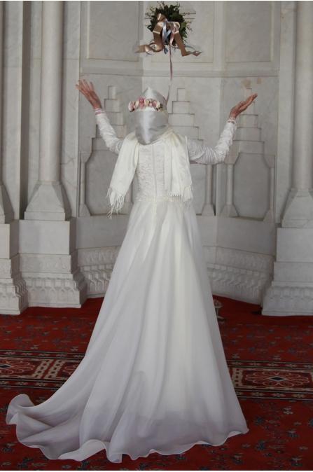 Prenses Abiye - Ekru