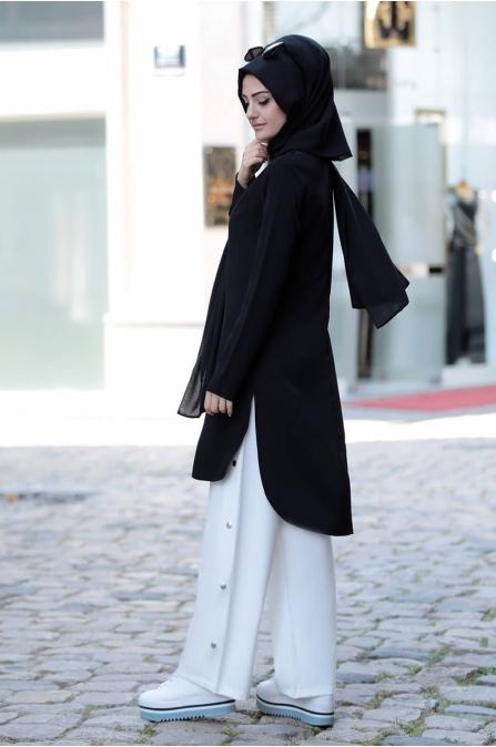 Siyah Tunik Pantolon Takım - Merve Bozkurt