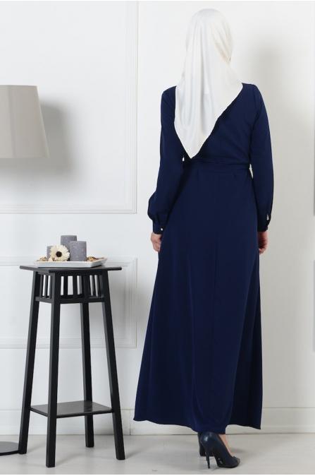 Cepli Elbise - Lacivert