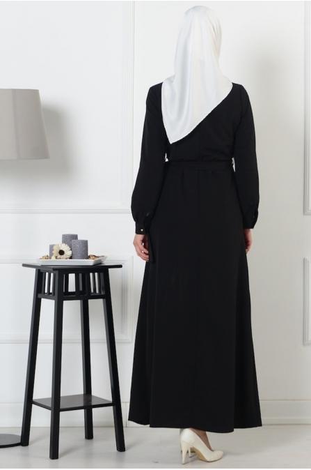 Cepli Elbise - Siyah