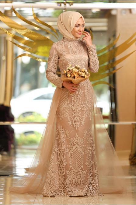 Gold Tesettür Abiye  5299 - Minel Aşk