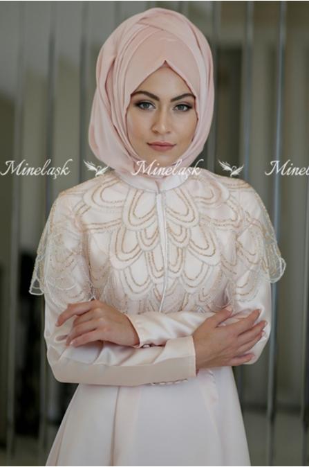 Minel Aşk - Hazel Abiye - Somon