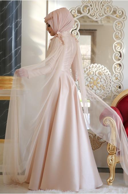 Minel Aşk - Elegance Abiye - Somon
