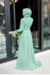 Yaka Detaylı Elbise - Çağla - Minel Aşk