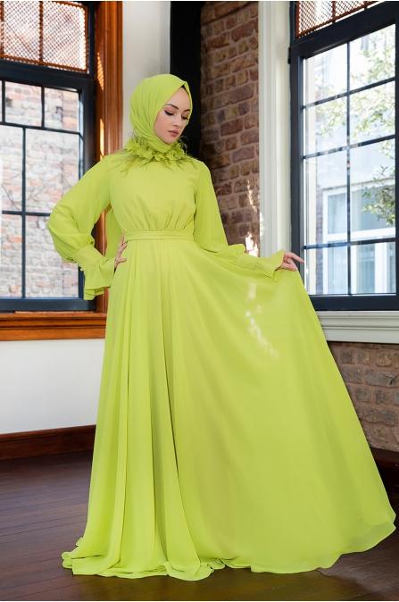 Yaka Detaylı Elbise - Oksit - Minel Aşk