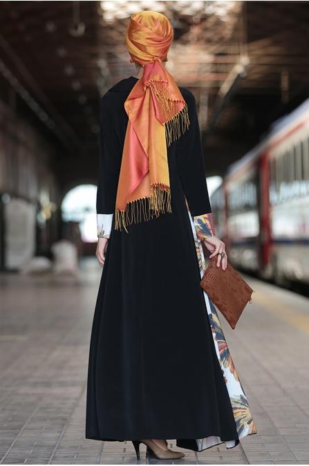Nilüfer Kamacıoğlu Mendil Yaka Elbise - Siyah