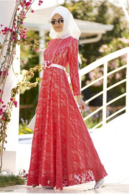 Dantel Elbise Nar Çiçeği