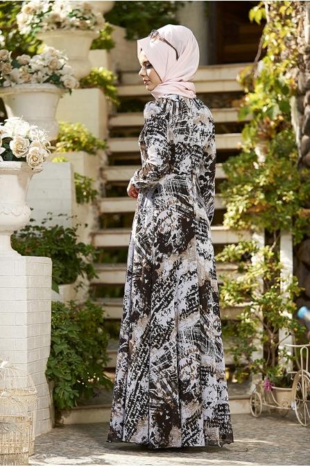 Pastel Elbise - Siyah