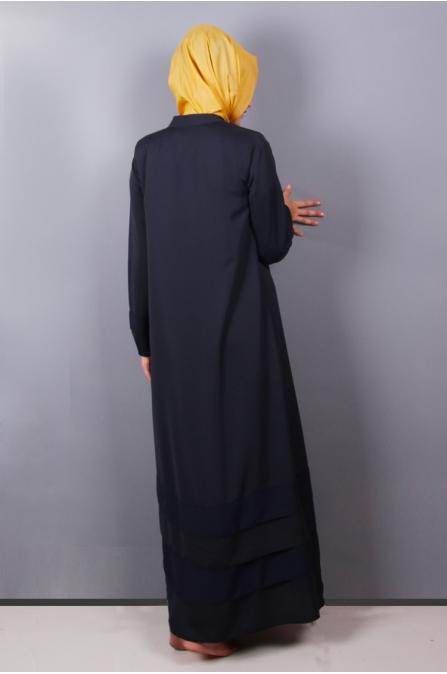Ferace - Lacivert - NSF1001 -Nira  Sultan