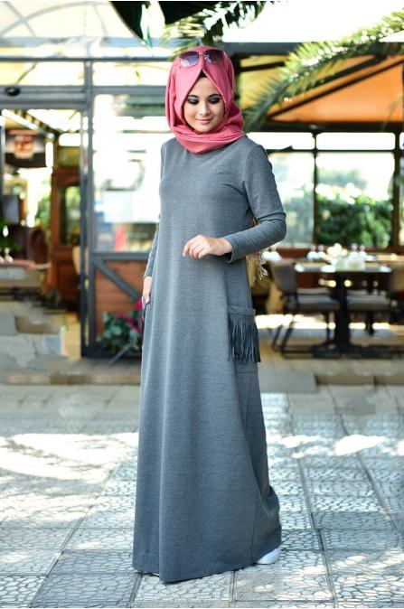Basic Spor Elbise - Antrasit - Nurgül Çakır