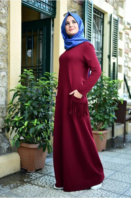 Basic Spor Elbise - Bordo - Nurgül Çakır
