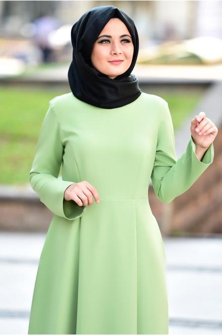 Fulya Elbise - Yeşil - Nurgül Çakır