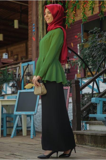 Nurkombin - Şimal Bluz - Yeşil