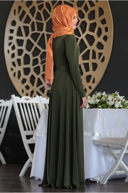 Mahperi Elbise - Haki - Nurkombin