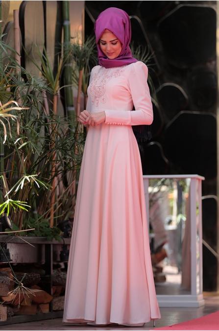 Mahperi Elbise - Pudra  - Nurkombin