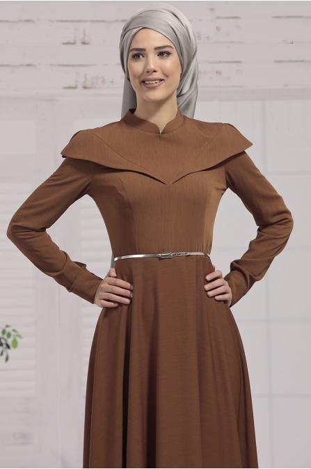 Nurkombin - Nefes Elbise - Taba
