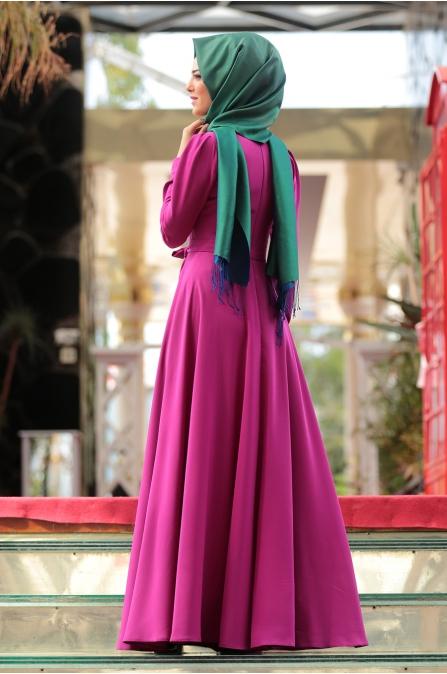 Nurkombin - Petek Elbise - Mürdüm